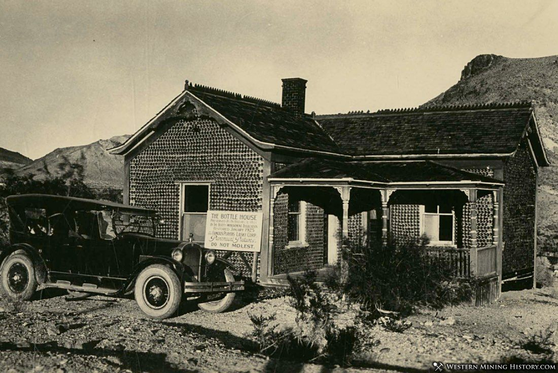 Rhyolite bottle house ca. 1920