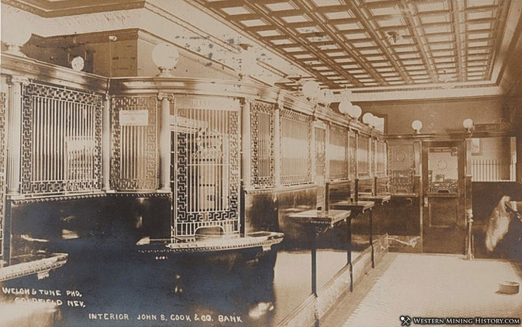 Interior view of the Cook Bank building ca. 1908