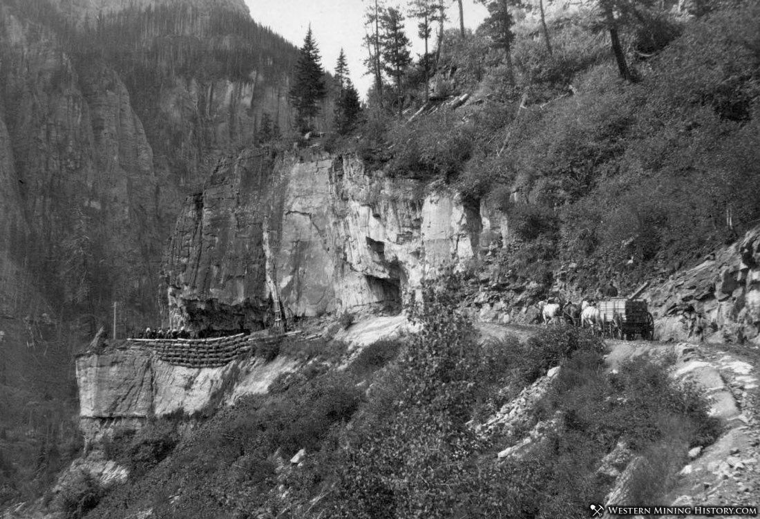 The road from Ouray to Camp Bird around 1900