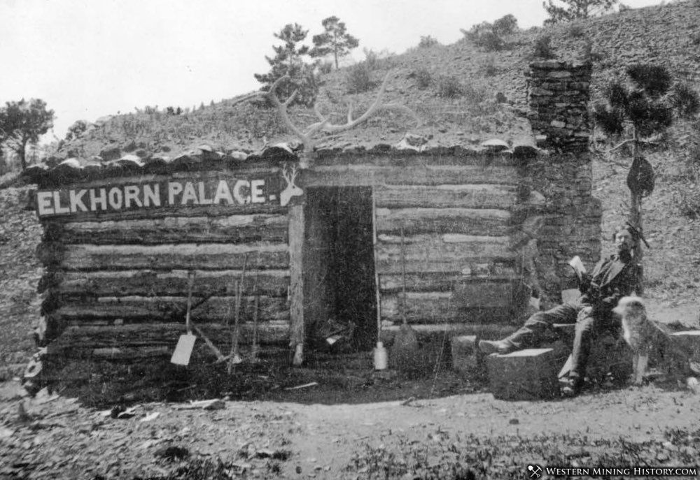 A miner at his palace - Rosita Colorado ca. 1870s