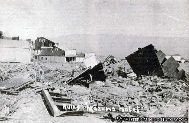 Ruin of the Mazuma Hotel after the July 1912 flash flood