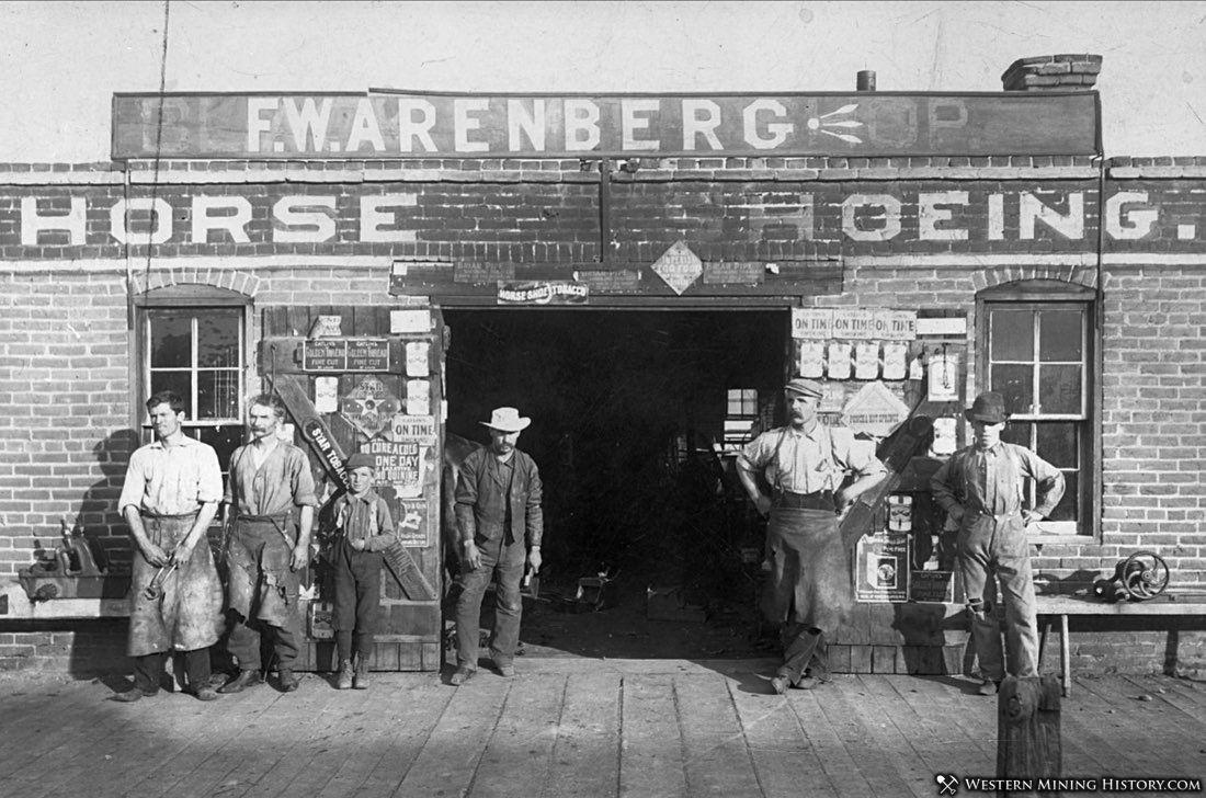 Blacksmith at Salida Colorado