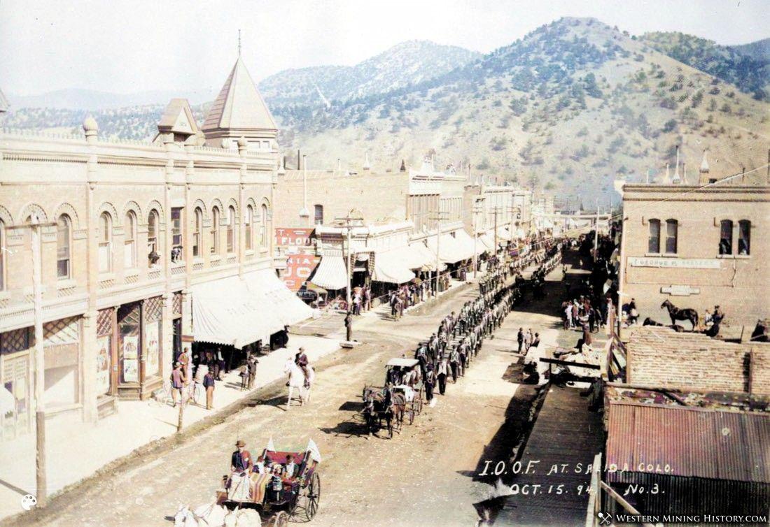 Parade - Salida, Colorado 1894 (colorized)