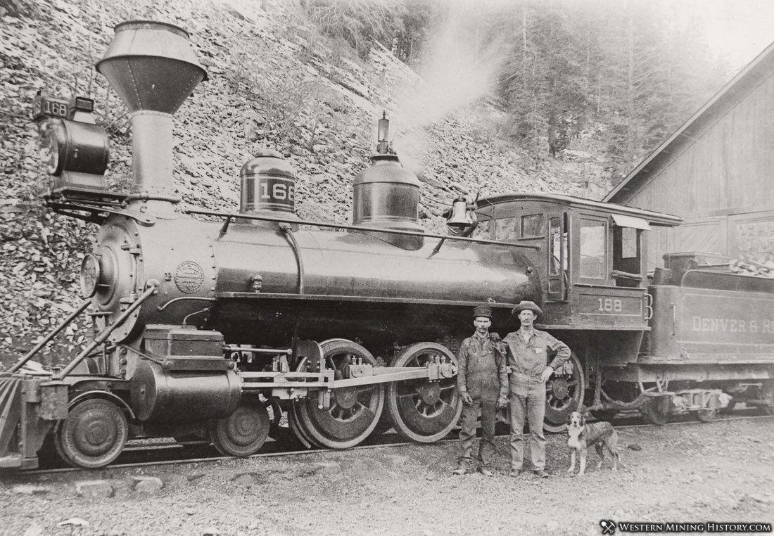 DR&G locomotive at Salida, Colroado