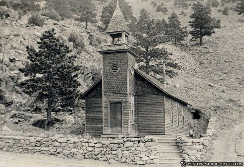 Little Church in the Pines Salina Colorado ca. 1910