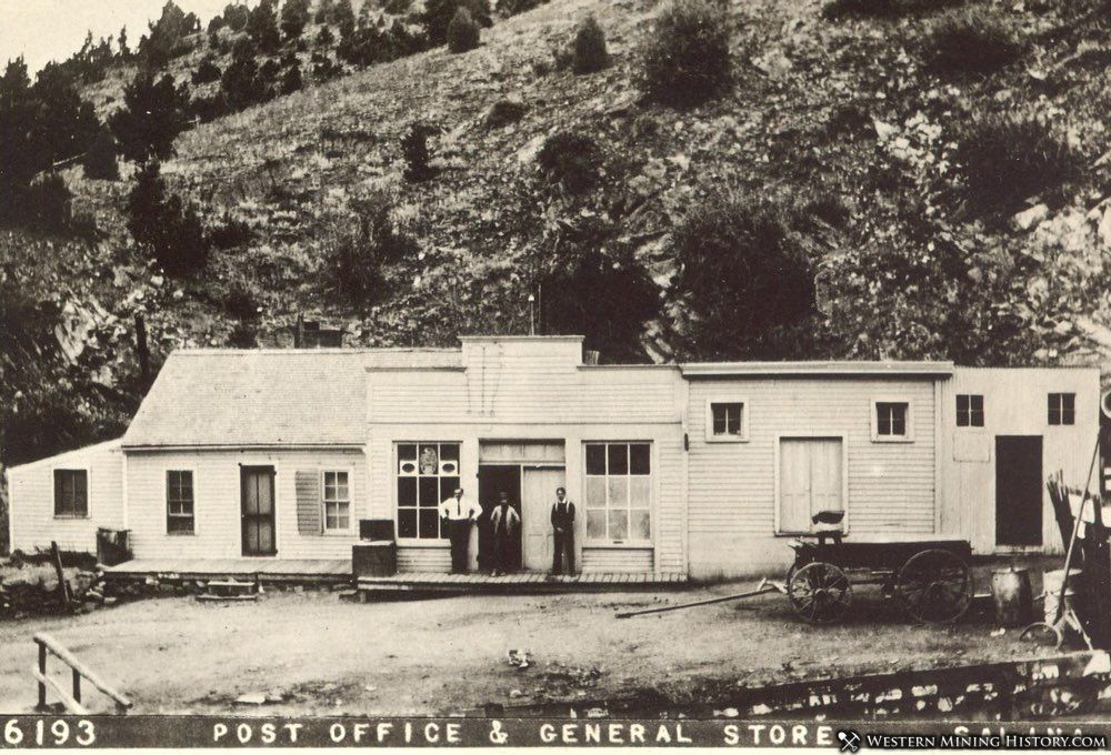 Post Office and General Store - Salina Colorado ca. 1910
