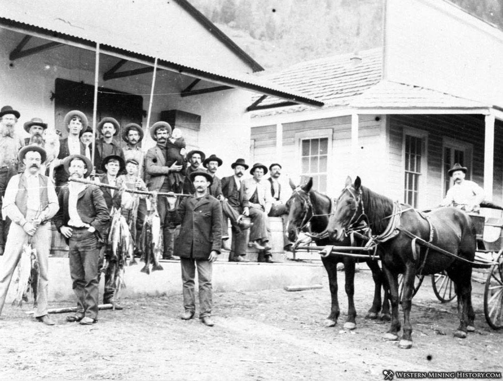 Fishermen at Scott Bar ca. 1890