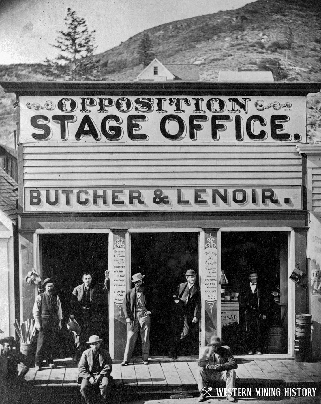 Silver City stage office in 1868