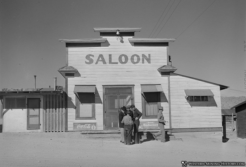 Saloon at Silver Peak, Nevada 1940