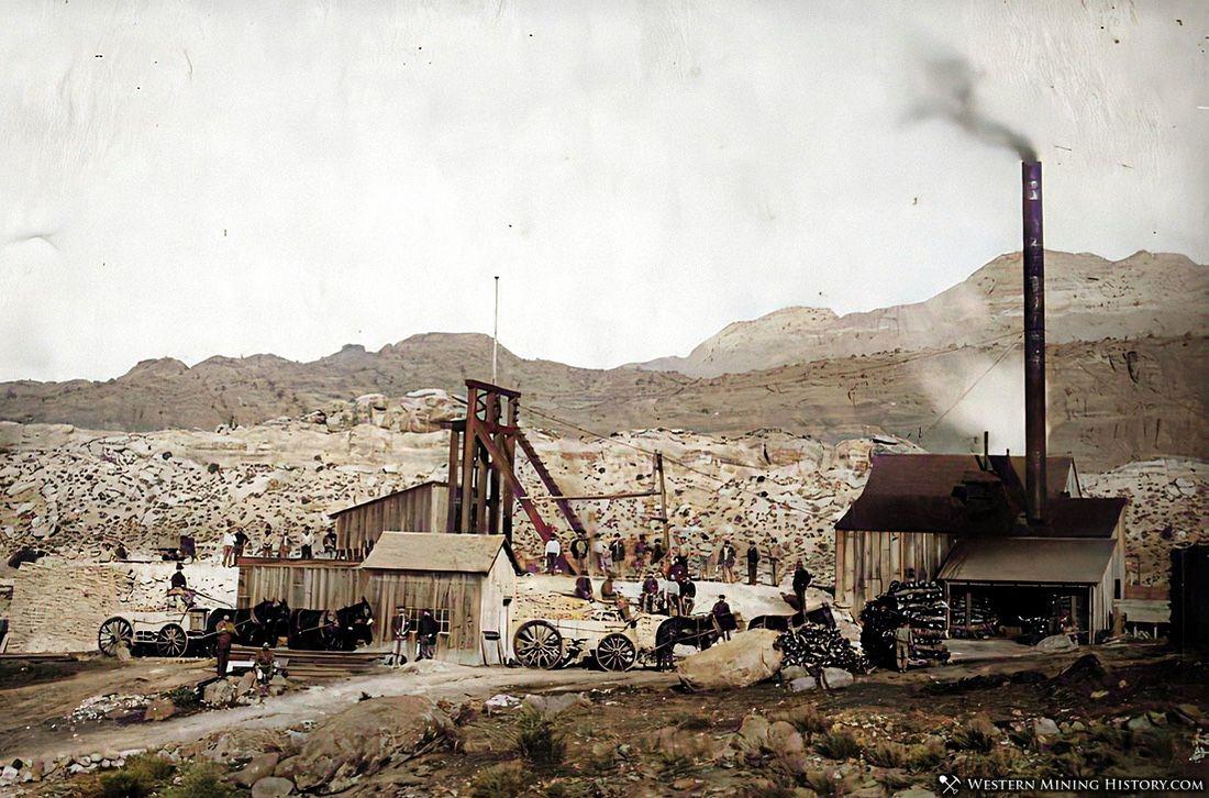 Silver mine at Silver Reef Utah ca. 1885
