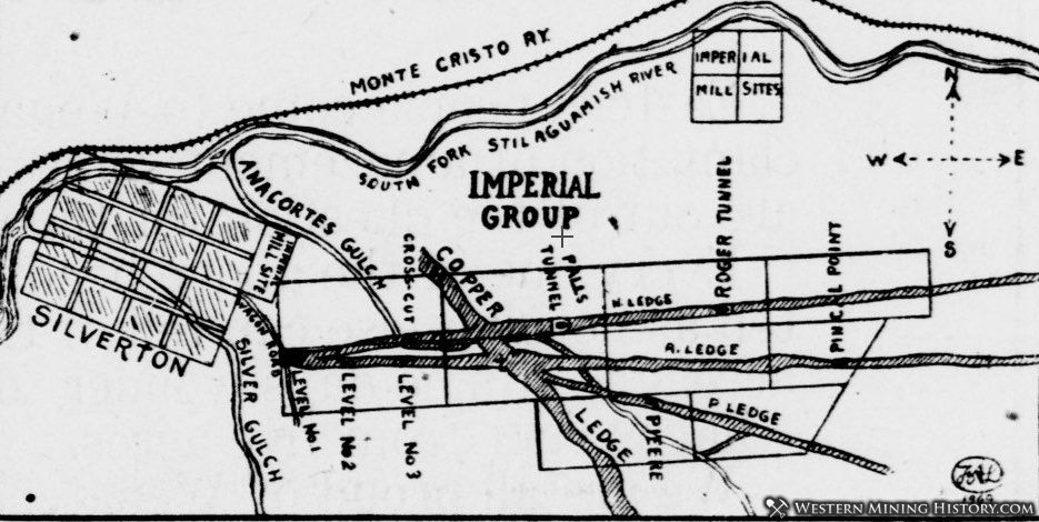 Promotional Map of Silverton and the Imperial Mine 1909