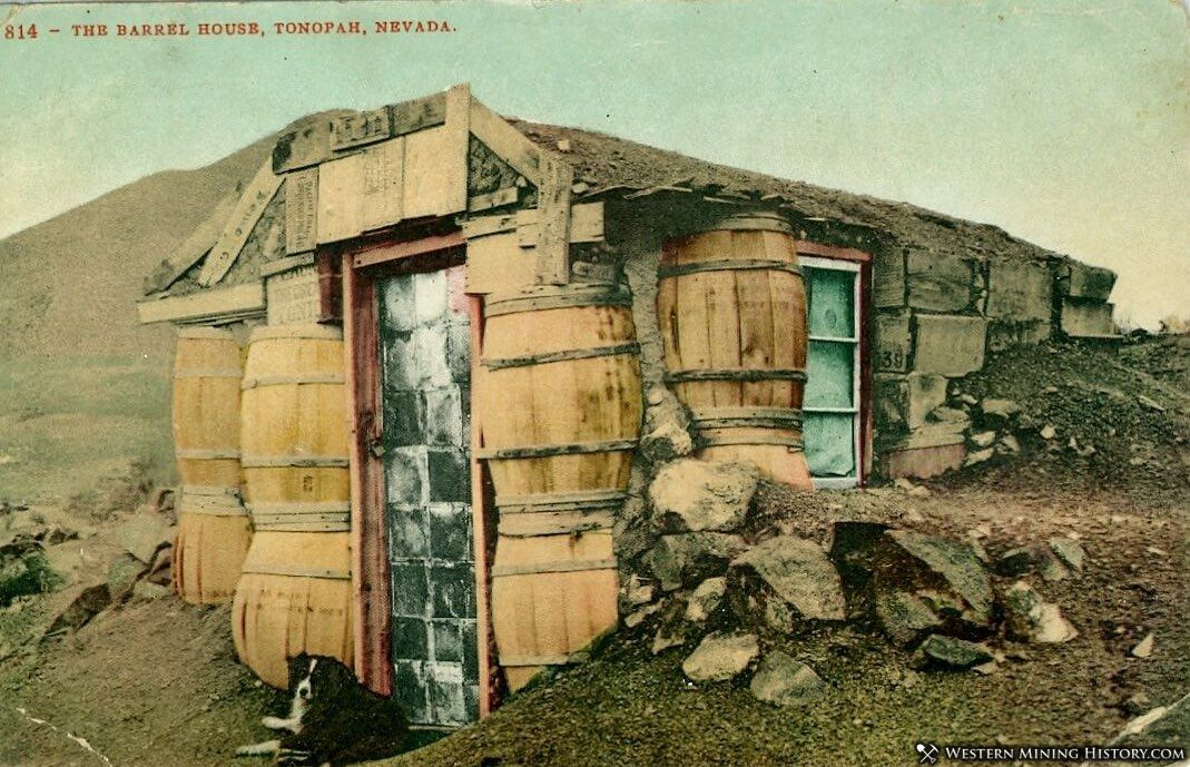 Tonopah barrel house - colorized postcard version