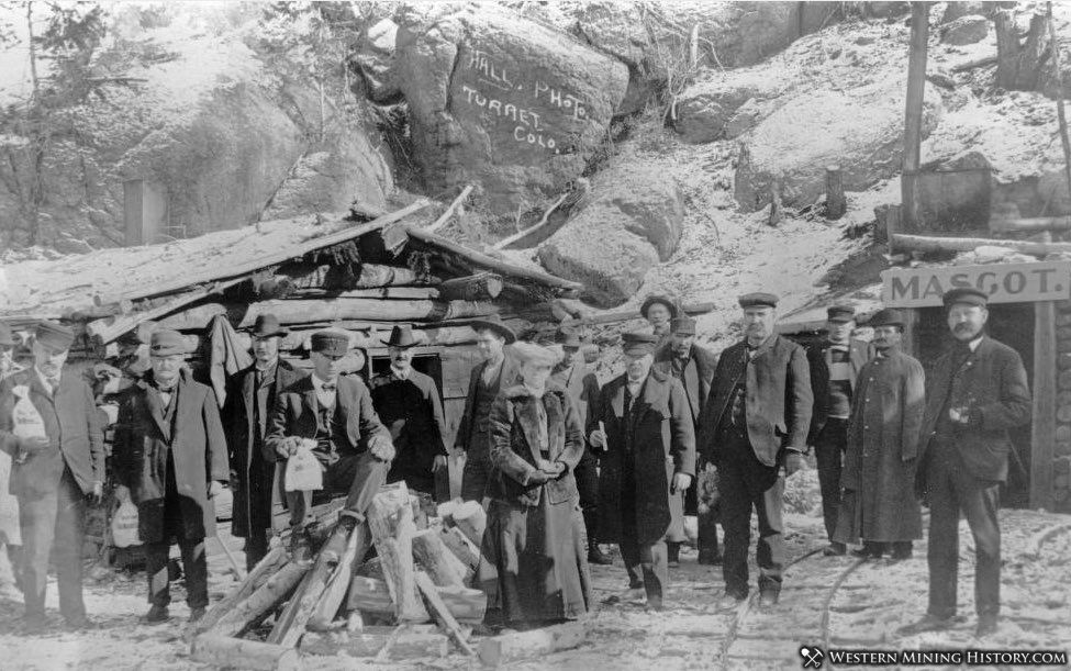 Crowd at the Mascot mine Turret Colorado