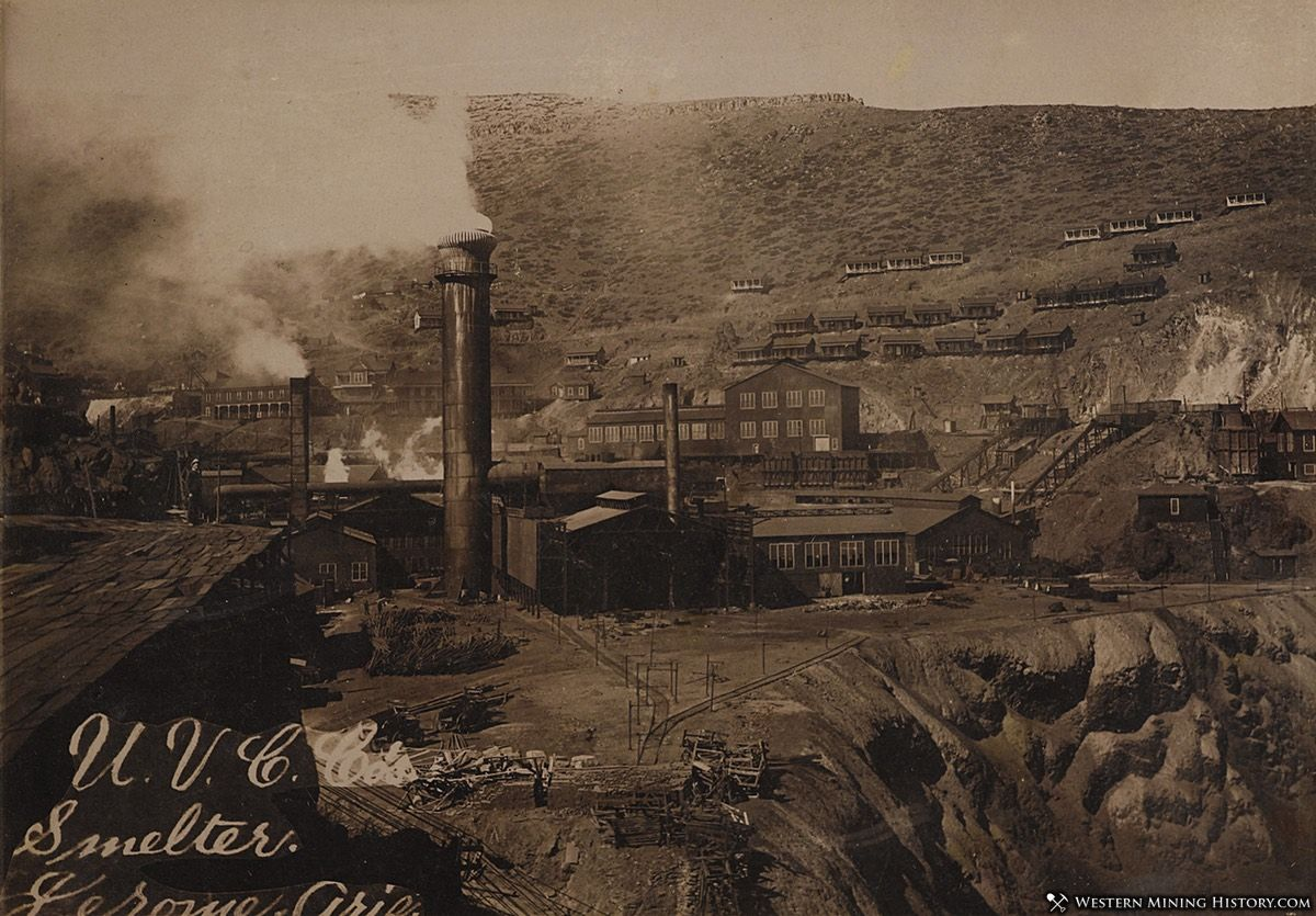 United Verde Smelter - Jerome, Arizona 1890s