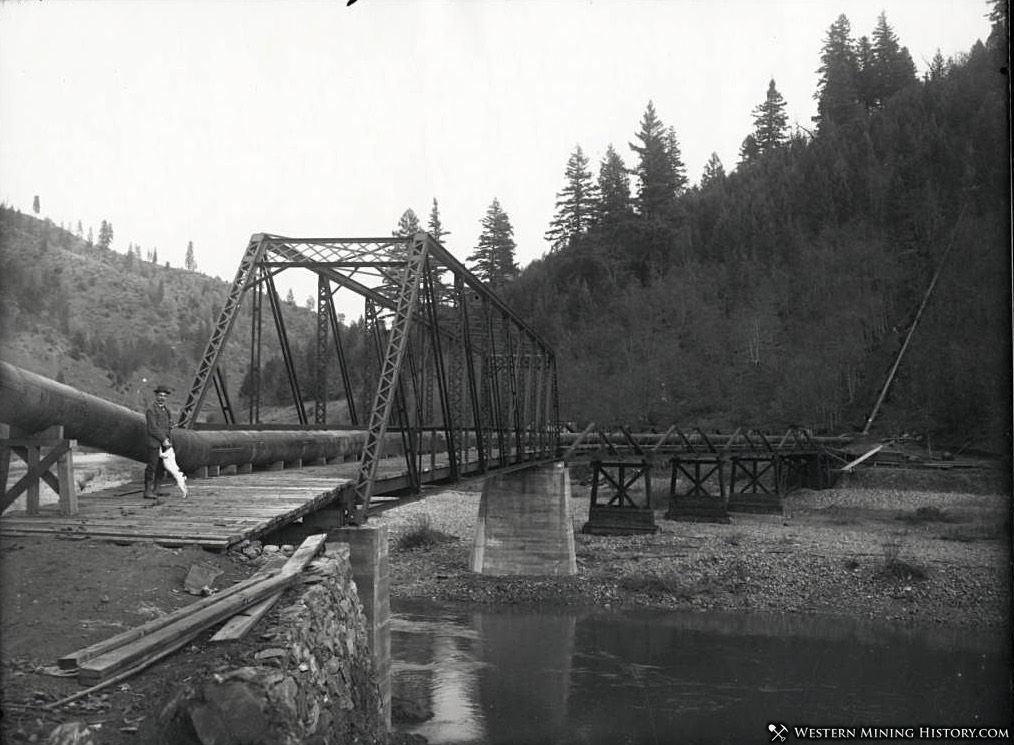 Steel Bridge and Siphon at Union Hill Mine ca. 1907