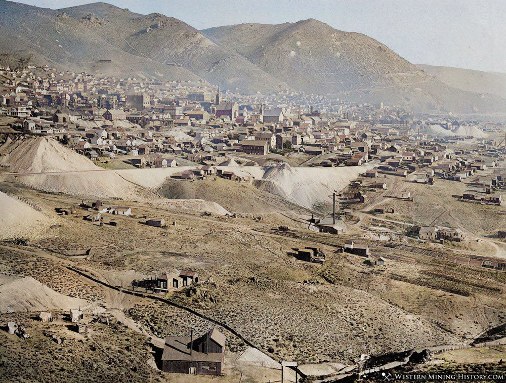 AI Enhanced photo of Virginia City, Nevada ca. 1878