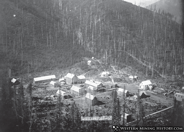 Early view of Wallace, Idaho