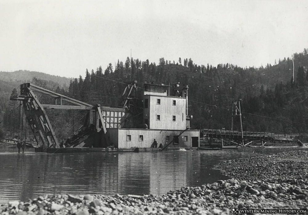 Gold Dredge at Weaverville California ca. 1910