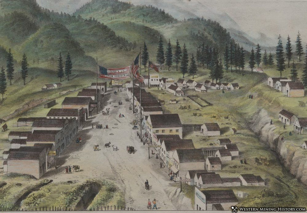Illustration of Weaverville, California ca. 1852