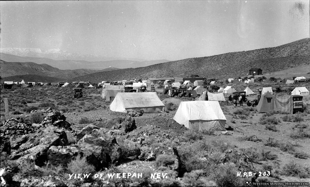 Tent city at Weepah, Nevada ca. 1927