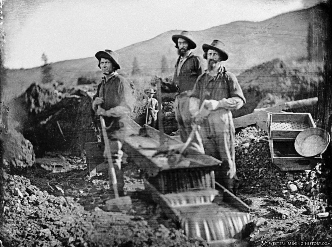 Miners at Thompson Dry Diggins 1851