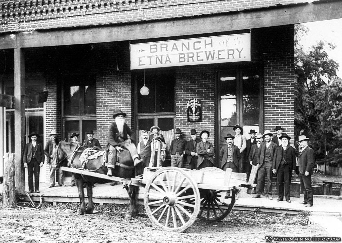 Yreka branch of the Etna Brewery ca. 1890