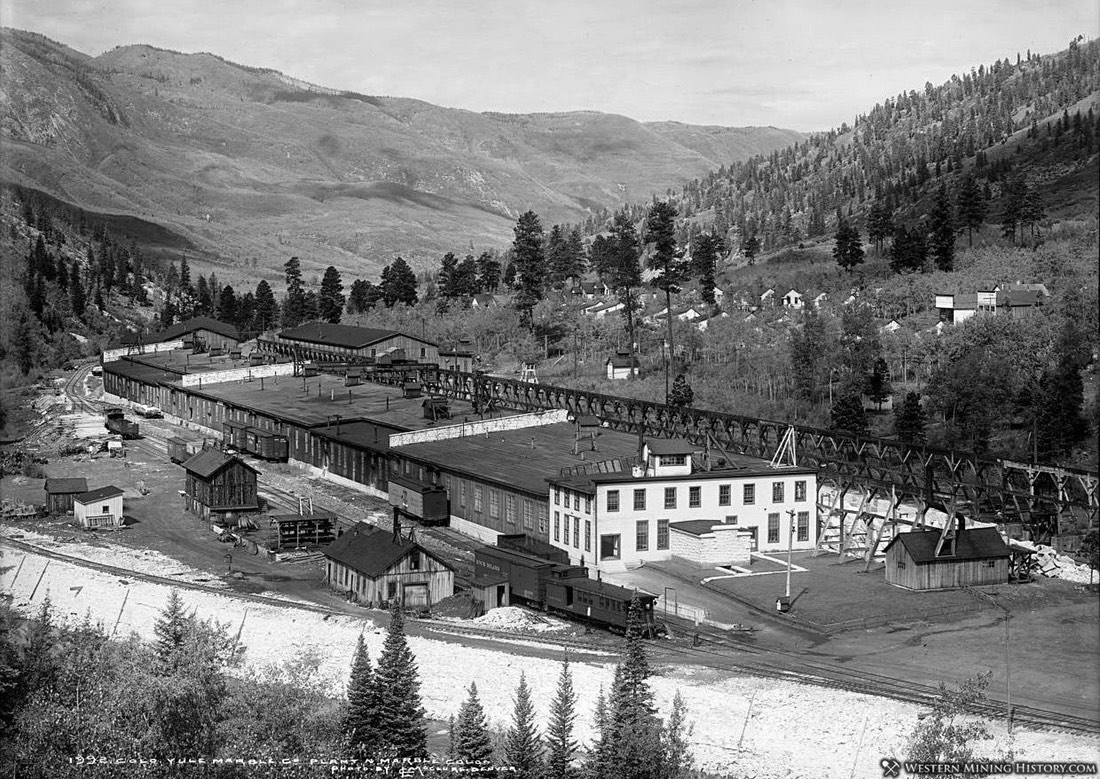 Yule Marble Company Finishing Mill ca. 1913