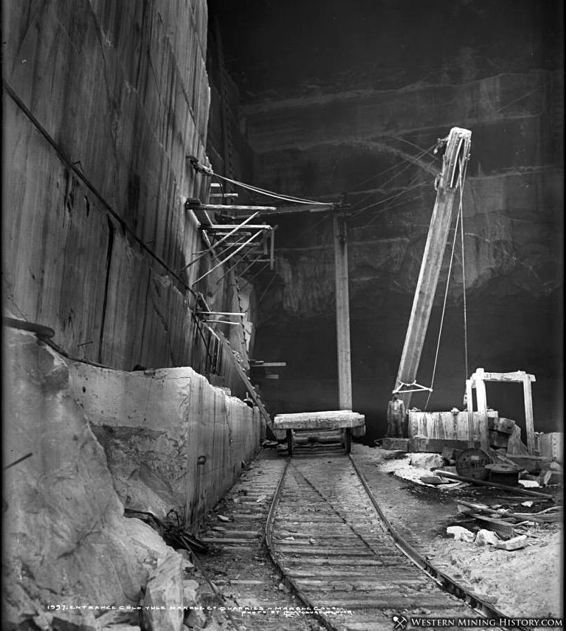 Interior view of the Yule marble quarry