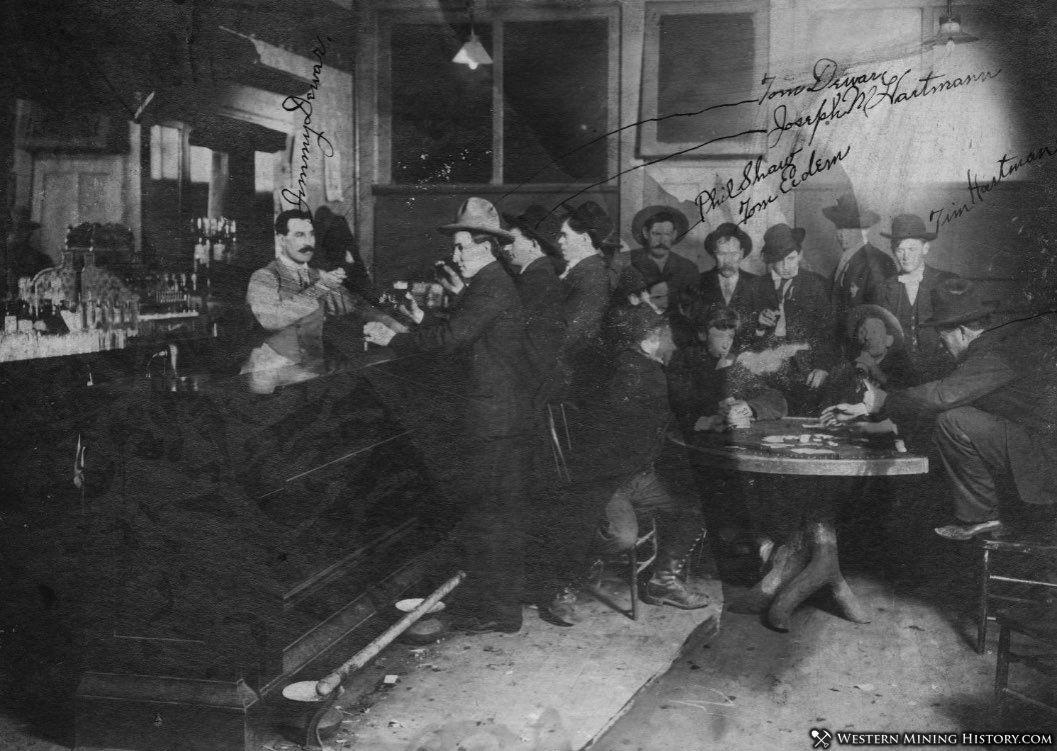 Dewars Saloon - Zortman, Montana 1905