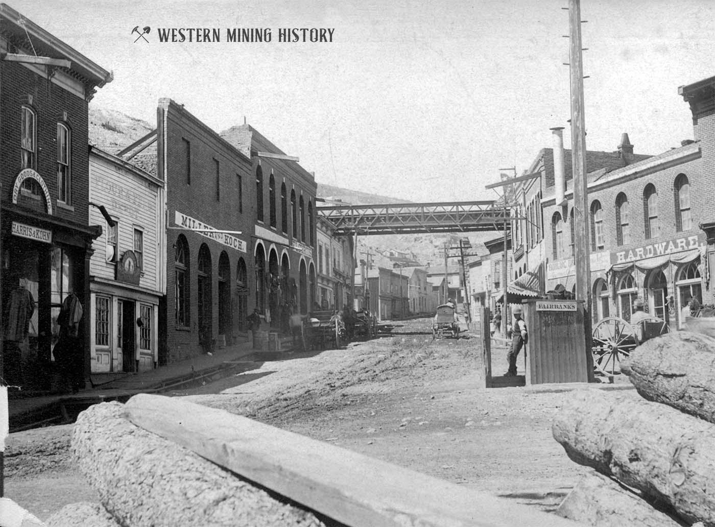 Black Hawk Colorado Street View ca 1888
