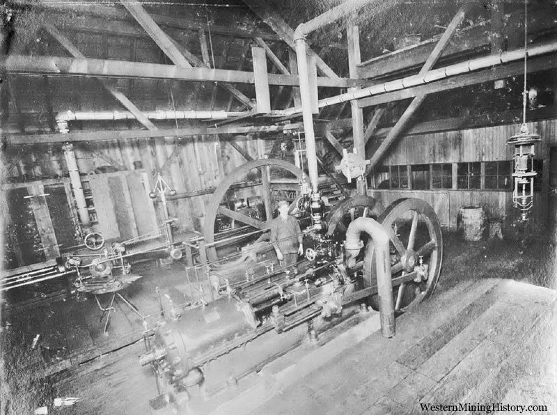 Bonanza Mine compressor room at the mill