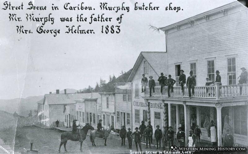 Caribou Street Scene 1883
