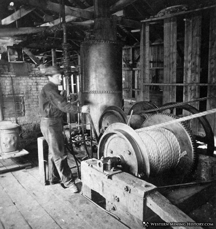 Hoist operator works in the Caribou Mill