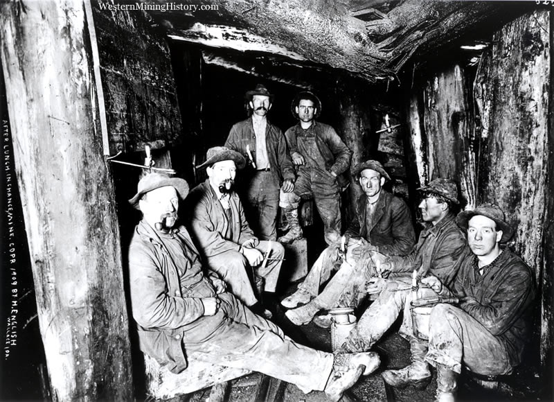 Miners break for lunch in the Last Chance Mine