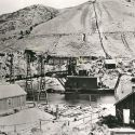 First US Gold Dredge at Bannack 1895