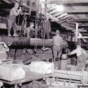 US mine new motor shaft being installed - Bingham Utah ca. 1930