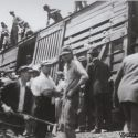 Union members being loaded into cattle cars during the Bisbee deportation of 1917
