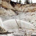 Hydraulic mine at Brandy City 1912
