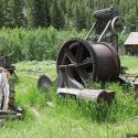 Mining machinery at Custer, Idaho