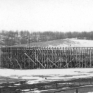 Arena erected for the Bull Fight - Gillett Colorado August 1895