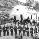 Granite Miners Coronet Band in front of the Superintendent's house