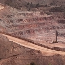 Open-pit copper mine at Clifton