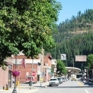 Downtown Wallace, Idaho.