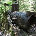 Boiler of the Merten mill at Jawbone Flats, Oregon