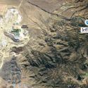 Jefferson Nevada located in realtion to Round Mountain. Diamond shape markers are Nye County mines
