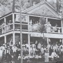 The Carter House hotel during the 1876 centennial celebration - Junction City, California
