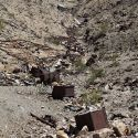 Ore cars and scrap discarded at Keane Wonder Mine