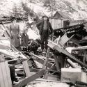 Ed Weekler home demolished by snowslide - Mace, Idaho 1910