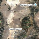 Northumberland located in relation to Round Mountain Nevada