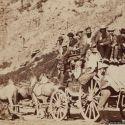 Salt Lake Stagecoach Leaving Ophir, Utah ca. 1870s